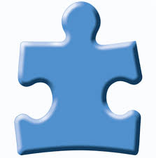 Image of a blue puzzle piece